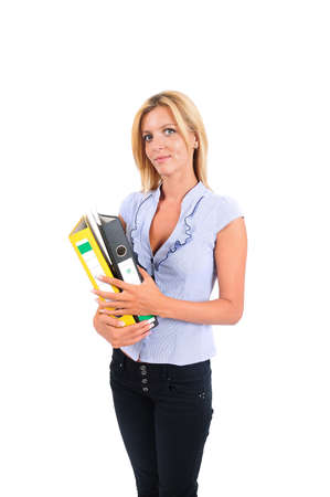 Isolated Young Business Woman Standing Stock Photo - 15349771