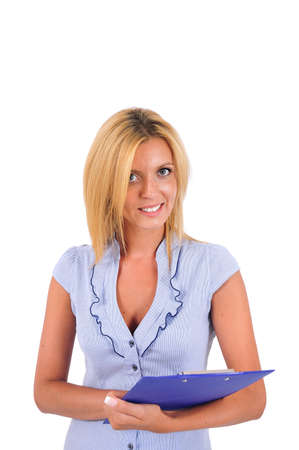 Isolated Young Business Woman Standing Stock Photo - 15349977