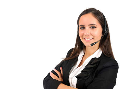 Isolated young business woman customer Stock Photo - 15387738