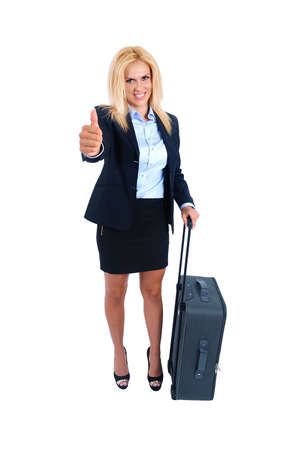 Isolated young business woman approval Stock Photo - 15465936