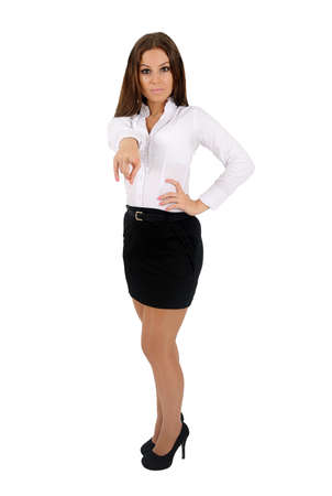 Isolated young business woman Stock Photo - 16010188