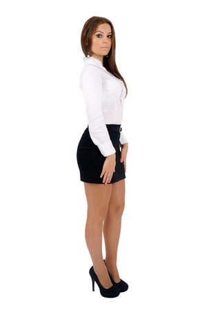 Isolated young business woman looking  Stock Photo - 16010204