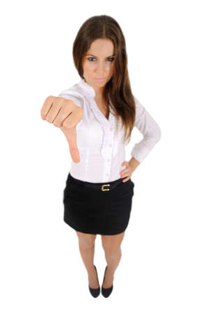 Isolated young business woman reject Stock Photo - 16010178