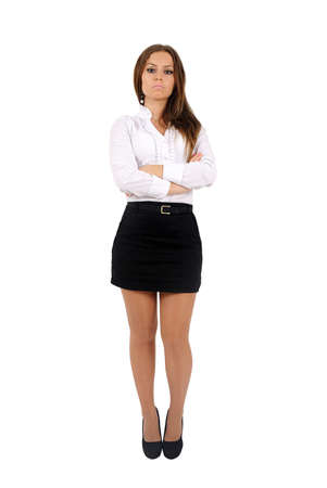 Isolated young business woman standing Stock Photo - 16010207