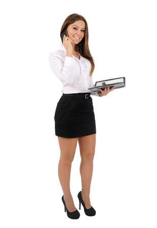 Isolé jeune femme d'affaires