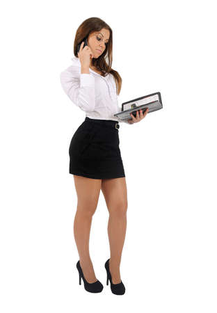 Isolated young business woman Stock Photo - 16010127