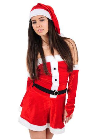 Isolated Young Christmas Girl Standing Stock Photo - 16480929