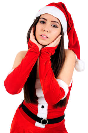 Isolated Young Christmas Girl Posing photo