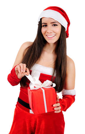 Isolated Young Christmas Girl  photo