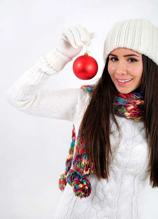Young casual girl with globe Stock Photo - 16790867