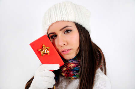 Young casual girl with gift Stock Photo - 16790868