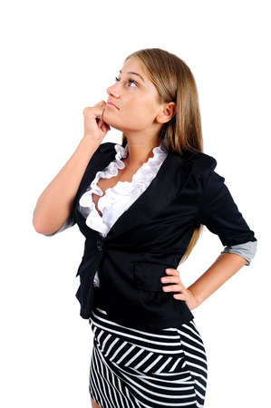 Isolated business woman Stock Photo - 16873695