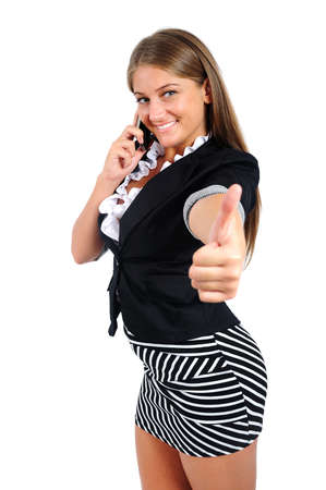 Isolated young business woman agree Stock Photo - 16864554