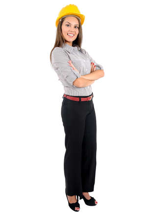 Isolated young business woman standing Stock Photo - 16862743