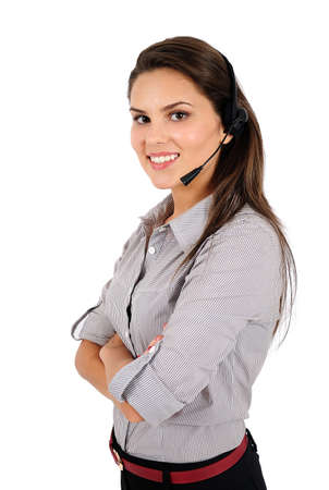 Isolated young business woman standing Stock Photo - 16865743