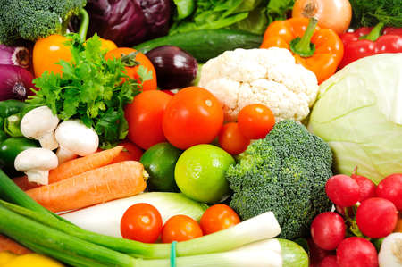 Group of fresh different vegetables photo
