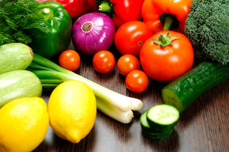 Goup of different raw vegetables Stock Photo - 18362548
