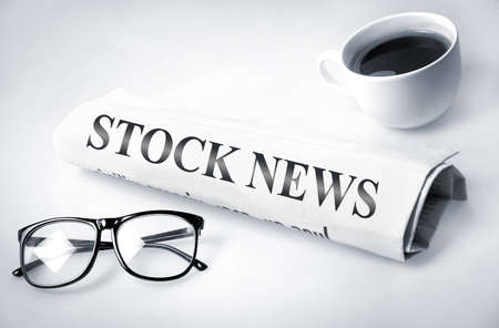 Stock News word on newspaper  Stock Photo - 21441675