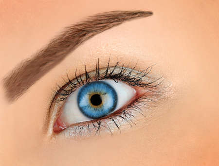 Woman with blue eye photo