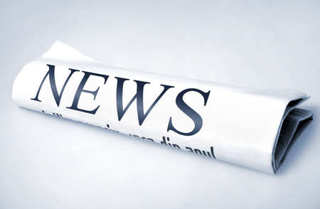 News word on newspaper photo