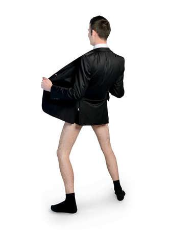 pants: Business man with no pants
