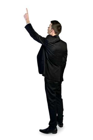 Business man pointing something photo