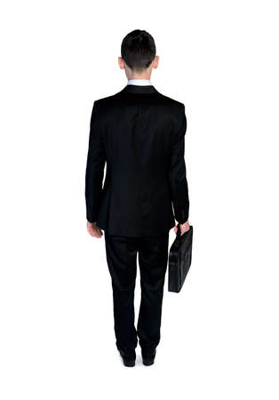 man back view: Isoalted business man back view Stock Photo