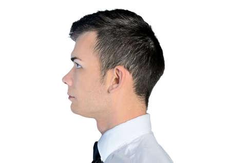 Closeup of business man head photo