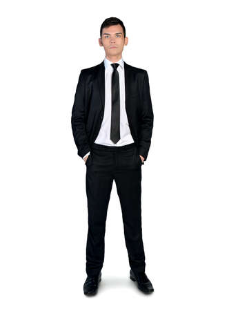 busines: Isolated busines man looking to camera Stock Photo