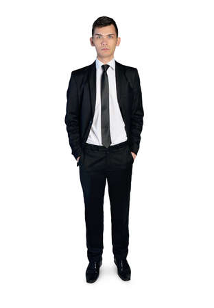 Isolated business man looking camera Stock Photo - 36096495