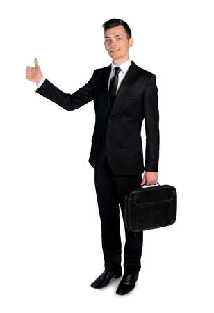 Isolated business man ok sign photo