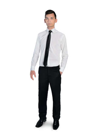 Isolated business man looking camera photo