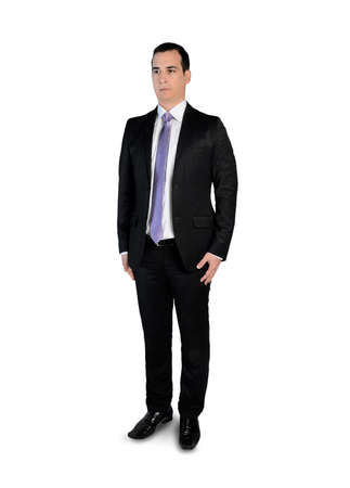 looking to side: Isolated business man looking side
