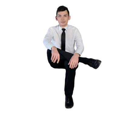Isolated business man looking camera Imagens