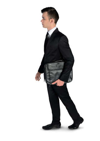 walk away: Isolated business man walk away