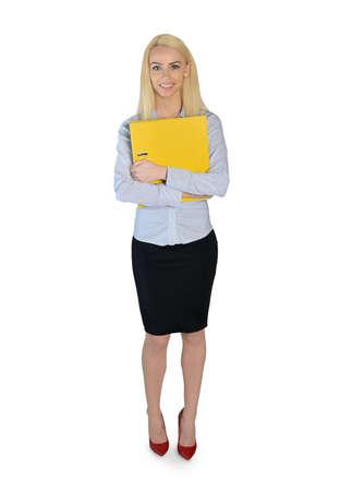 глядя на камеру: Изолированные деловая женщина, глядя камеры Фото со стока