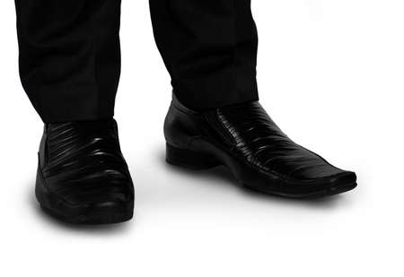 Business man black shoes closeup photo