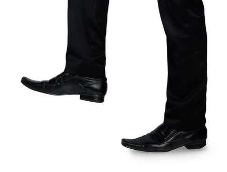 foot step: Business man piede passo