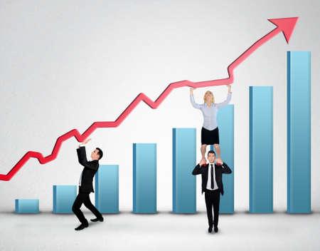upward struggle: Blue arrow report growth statistics