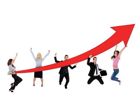 Red arrow report growth statistics photo