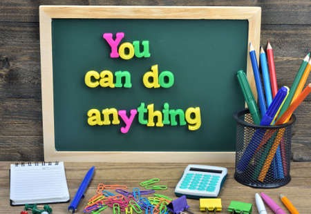 anything: You can do anything word on school board