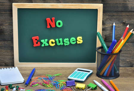 clarification: No excuses word on school board Stock Photo