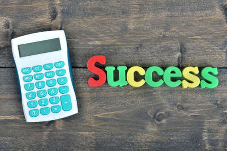 success word: Success word on wooden table