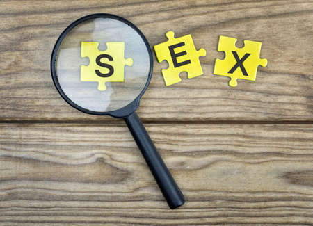 challenging sex: Puzzle pieces with word Sex