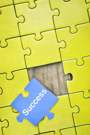 business puzzle: Puzzle pieces with word Success Stock Photo