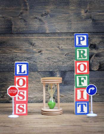 perdidas y ganancias: Ganancia o P�rdida concepto de la elecci�n