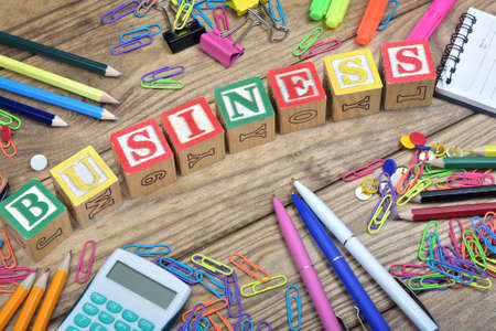 office tools: Business word and office tools Stock Photo