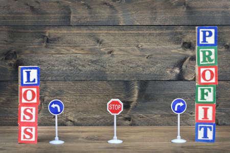 perdidas y ganancias: Ganancia o Pérdida concepto de la elección