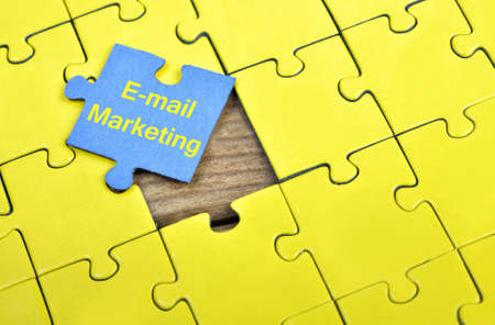 Puzzle pieces with word E-mail marketing