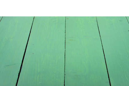 Empty green wooden table background Stock Photo